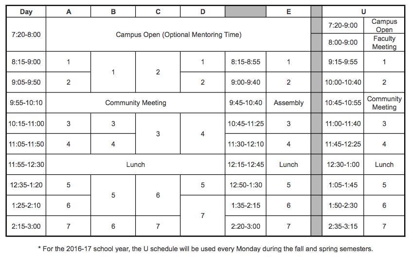 2016-17 Schedule