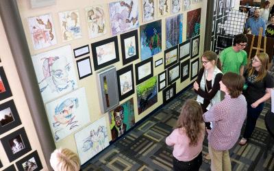 Seniors Show Off Their Artwork at 2016 Art Show