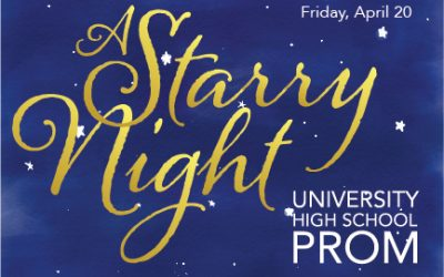 University High School Prom is Friday, April 20