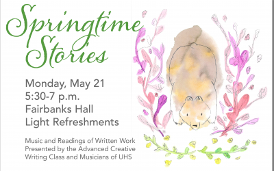 Writing & Music Students Present Springtime Stories Monday, May 21