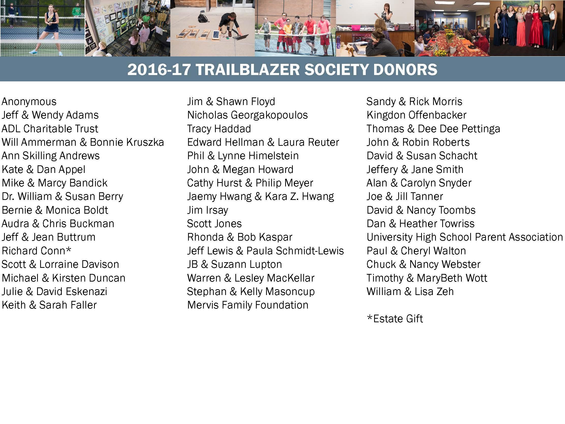 Trailblazer Society