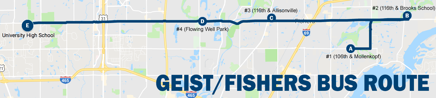 Geist/Fishers Bus Route