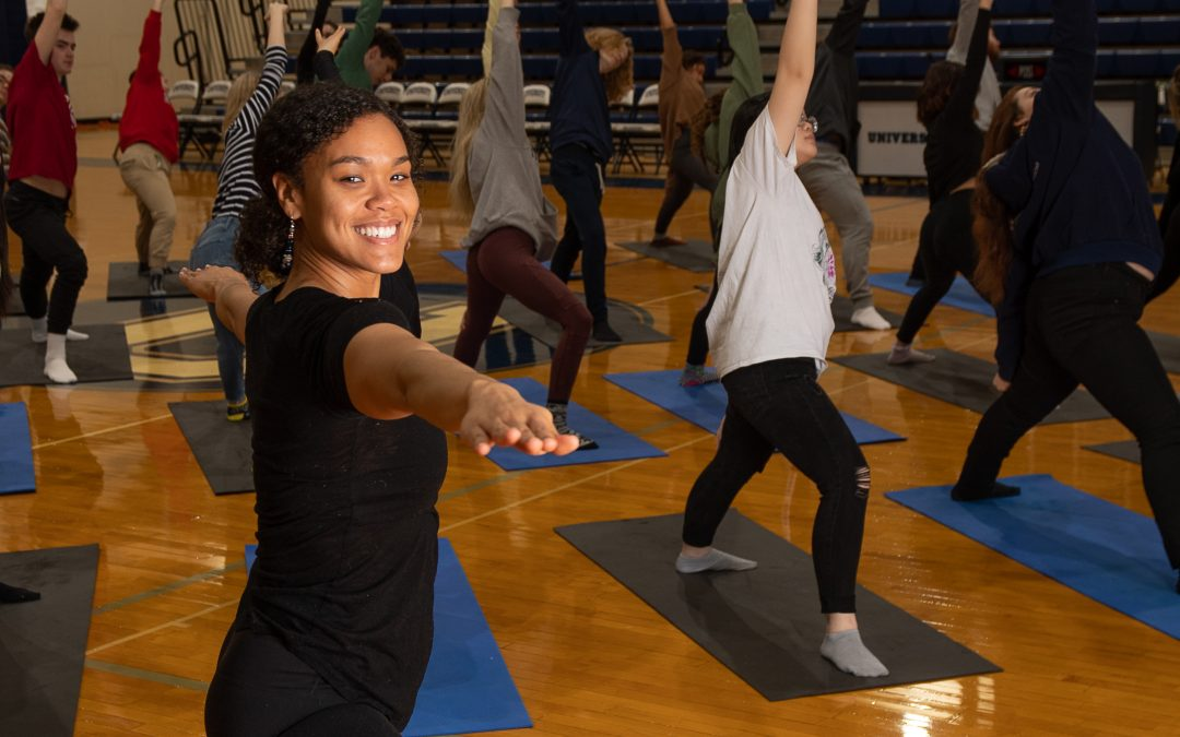 Lade Akande Shares Love of Yoga with University Students