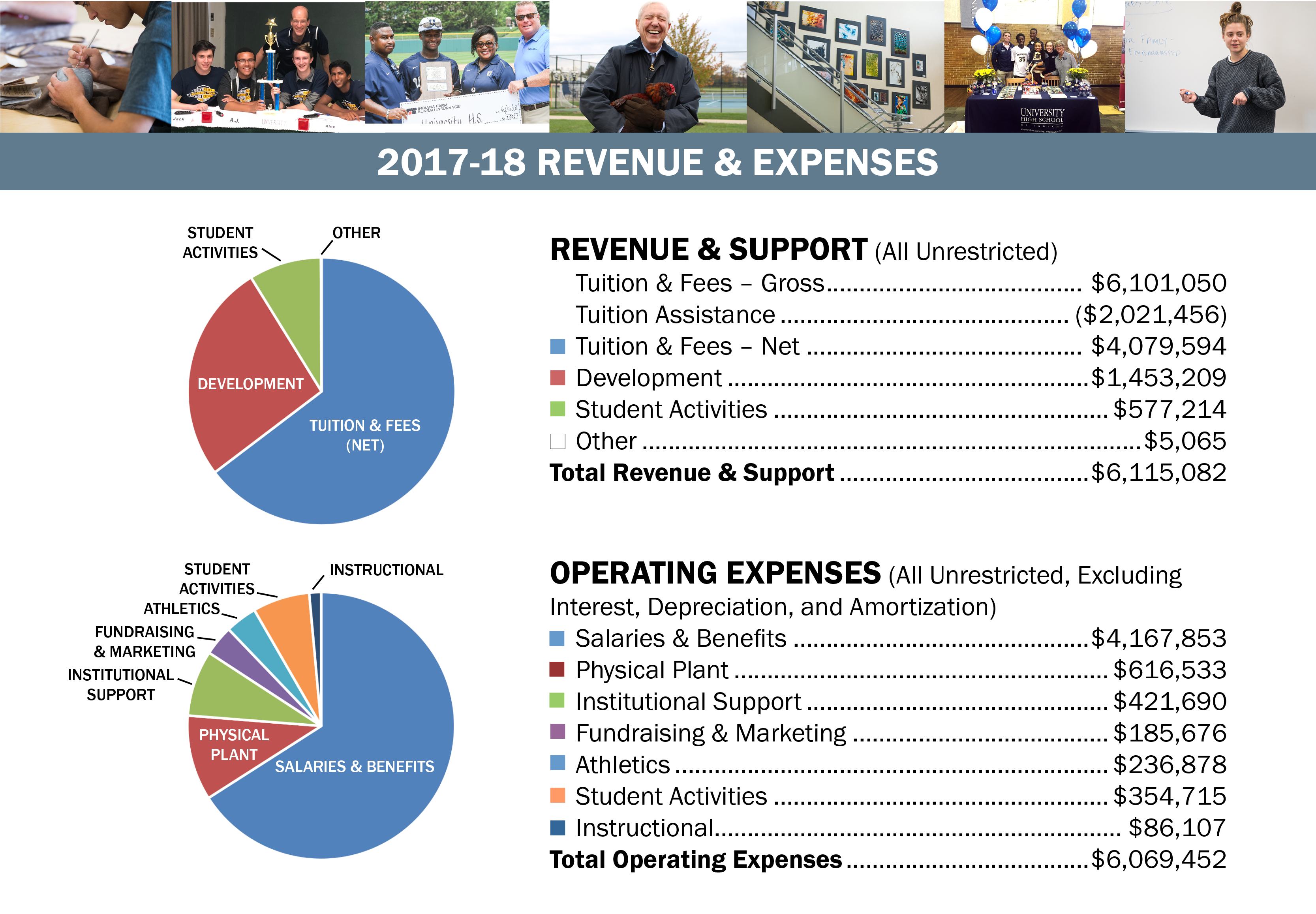 Charts of Revenues and Expenses