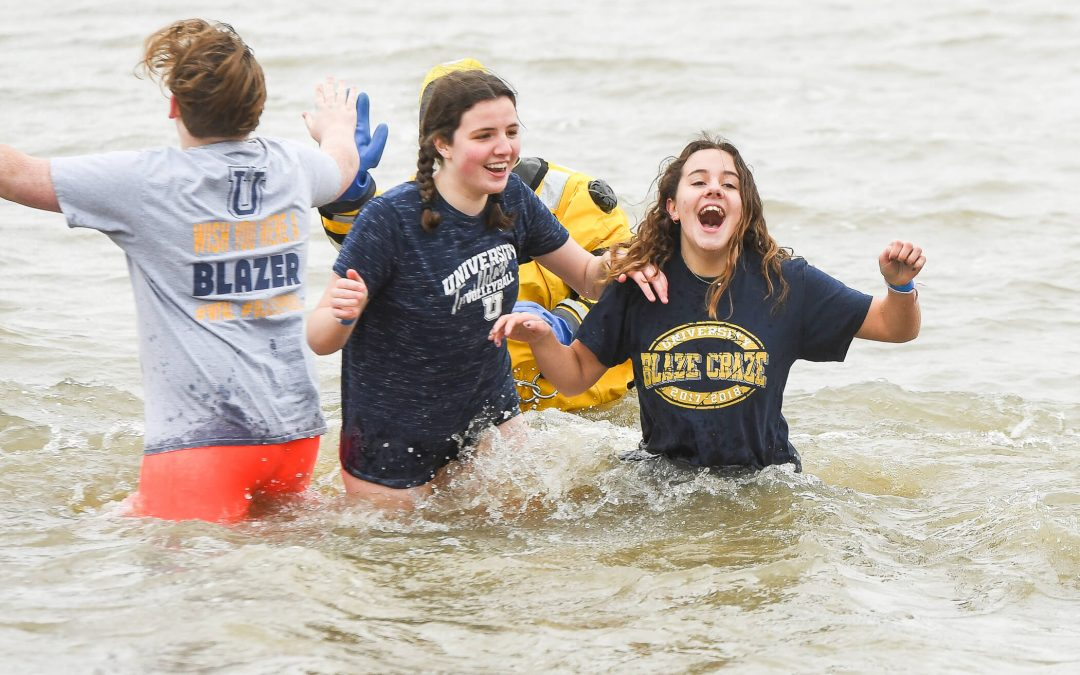 Chuck Webster Leads Trailblazers in Polar Plunge